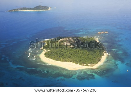 Beautiful Seychelles in the Indian Ocean.  - stock photo