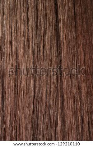 beautiful shiny brunette hair texture - stock photo