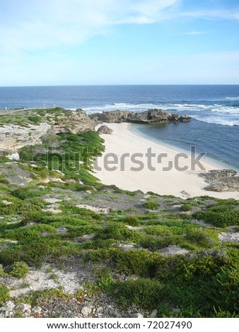 Beautiful Shoreline with Arch on Rottnest Island, Australia - stock photo