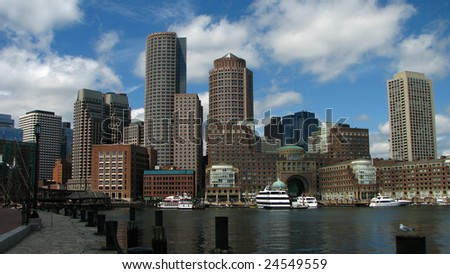 Beautiful shot of the Boston skyline