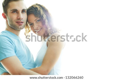 Beautiful shot of young people being happy in love - stock photo