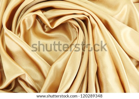 beautiful silk drape, close up - stock photo