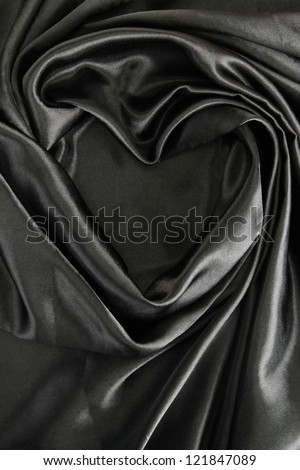 beautiful silk drape, close up