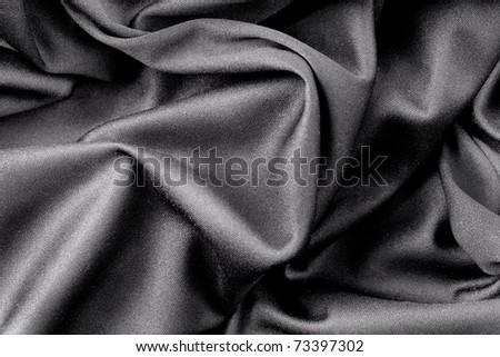 Beautiful silver fabric - stock photo