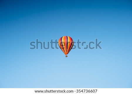Beautiful single balloon in blue sky
