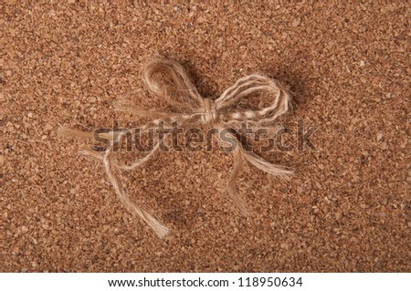 beautiful site of the old rope - stock photo