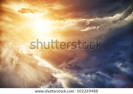 Beautiful sky. - stock photo