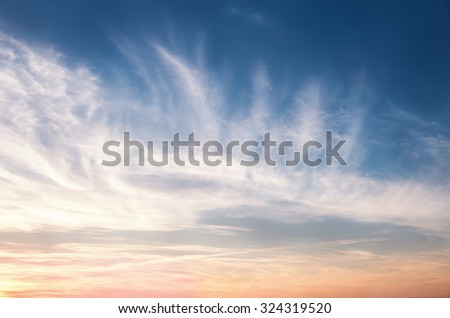 Beautiful sky - stock photo