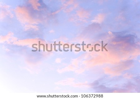 beautiful sky and clouds - stock photo
