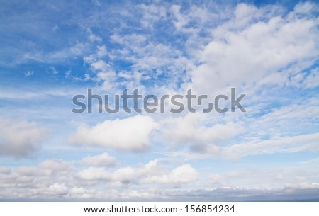 beautiful sky background with clouds - stock photo