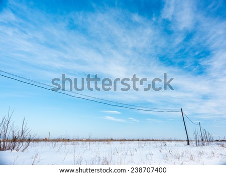 Beautiful sky over a field