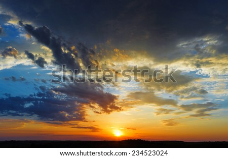 beautiful sky sunset clouds landscape