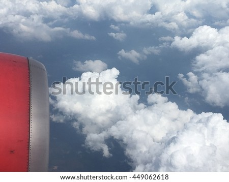 beautiful sky view from the airplane window