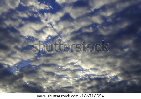 Beautiful sky with some clouds. - stock photo