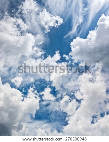 beautiful sky, would make a  background - stock photo