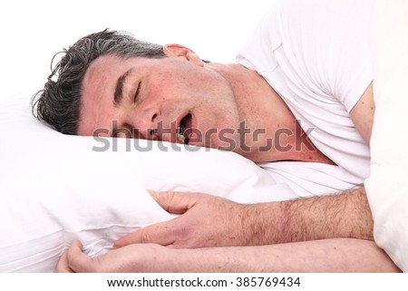 Beautiful sleeping man