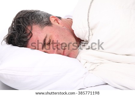 Side View Handsome Old Man Sleeping Stock Photo 506805508