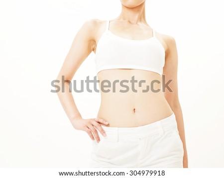 Beautiful slim body - stock photo