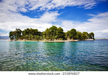 Beautiful small island in Croatia - holiday concept