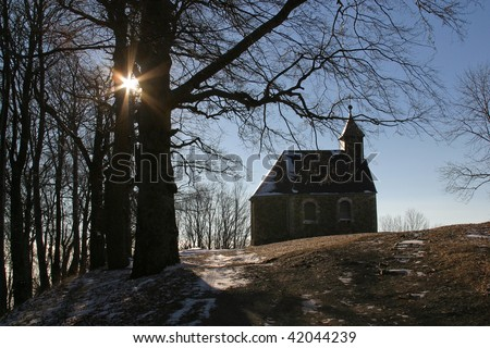 Beautiful small rural church in Croatia