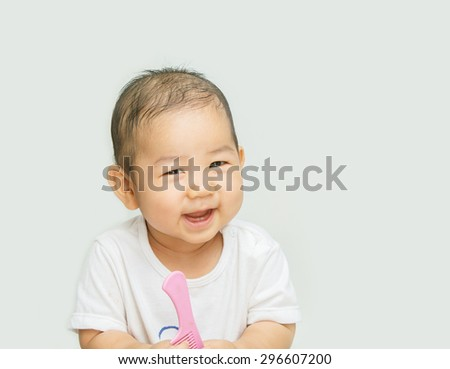 Beautiful smile of a small boy - stock photo