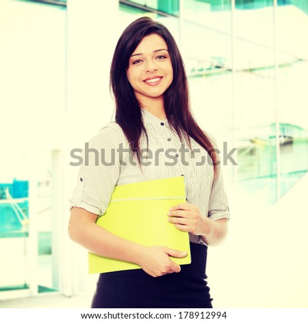 Beautiful smiling business woman.  - stock photo