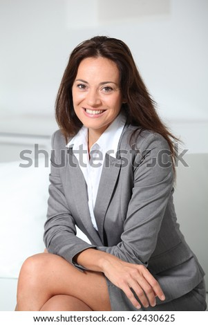 Beautiful smiling businesswoman - stock photo