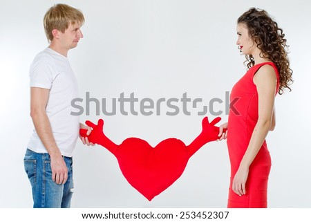 Beautiful smiling couple.Valentine's day