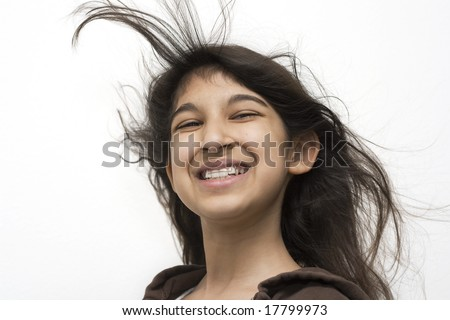 Beautiful smiling girl - stock photo
