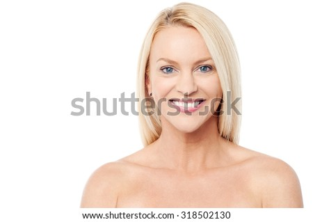 Beautiful smiling middle aged woman - stock photo