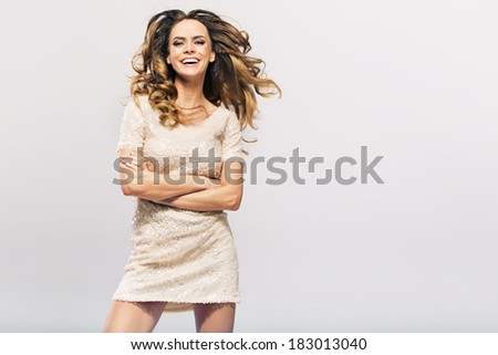 Beautiful smiling woman - stock photo