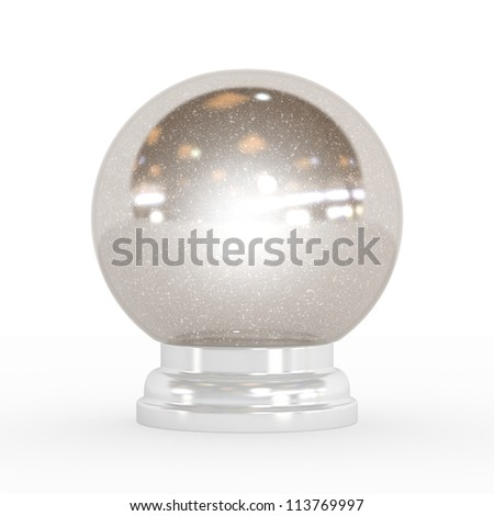 Beautiful Snow globe - High quality render with clipping path