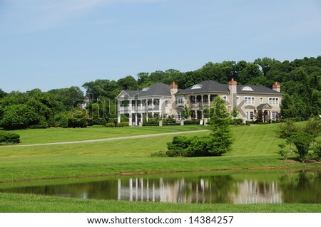 Beautiful Southern Style Homes On A Pond Typical Of Kentucky And The