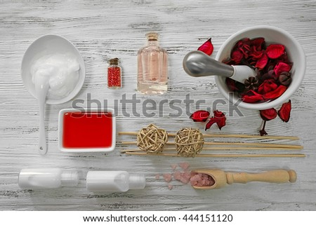 Beautiful spa composition. Flat lay