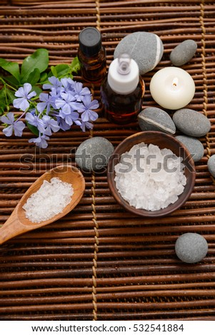 Beautiful spa composition on mat