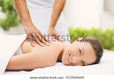 beautiful spa woman lying on the couch