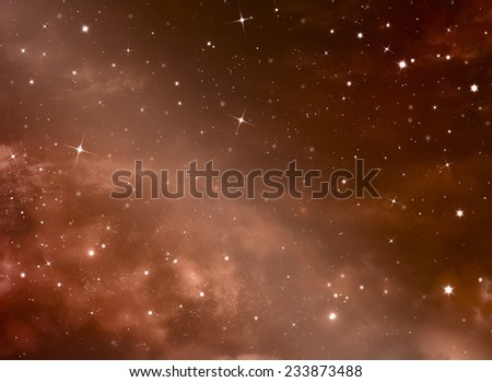 beautiful space background, night sky with stars  - stock photo