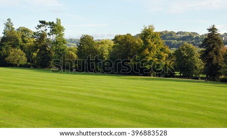 Beautiful Spacious Leafy Green Park - stock photo