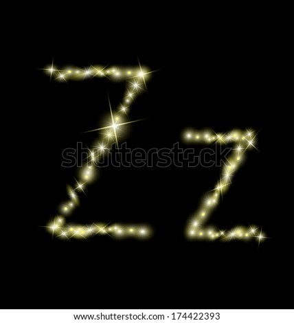 Beautiful sparkling Z letter