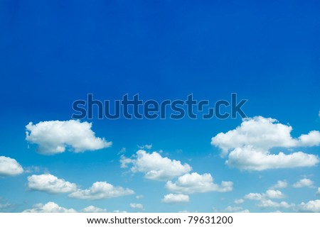 beautiful sparse clouds in the blue sky - stock photo
