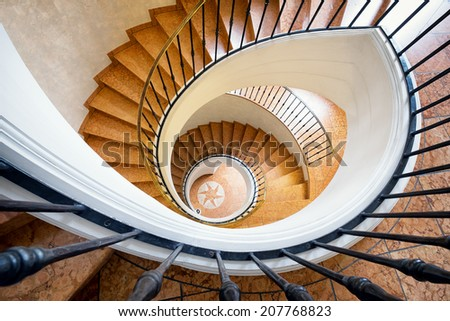 beautiful spiral staircase - looking down