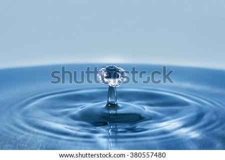 Beautiful splash of Water Drop. Freeze action. Water, water, water, water, water, water, water, water, water, drop, drop, drop, drop, drop, drop, drop, drop, drop, drop, drop, drop, drop, drop, drop - stock photo