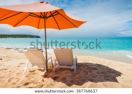 Beautiful St Martin Caribbean ocean vacation destination scene
