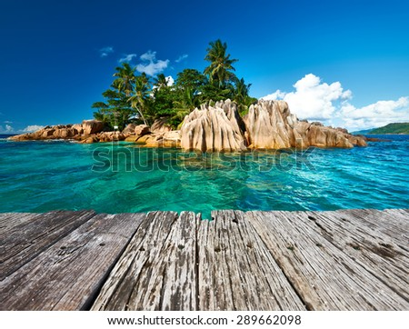 Beautiful St. Pierre Island at Seychelles