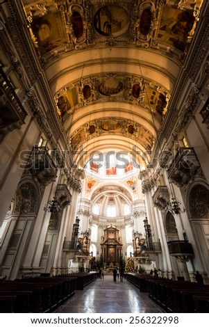 Beautiful St. Rupert cathedral at Salzburg, Austria