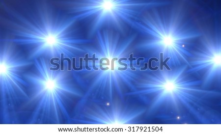 beautiful star lens flare effect is simple to use add on background - stock photo