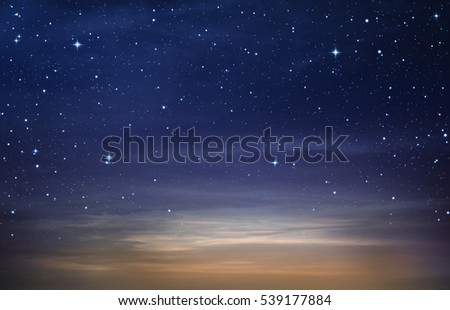 beautiful starry in the night blue sky ,abstract background
