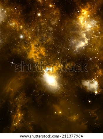 beautiful starry sky deep outer space - stock photo