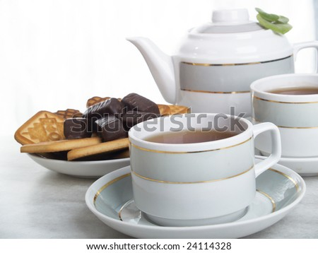beautiful still life composition of tea