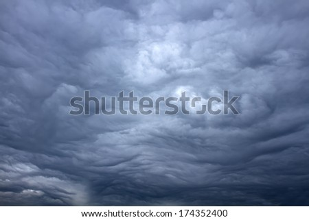 Beautiful storm sky with clouds - stock photo